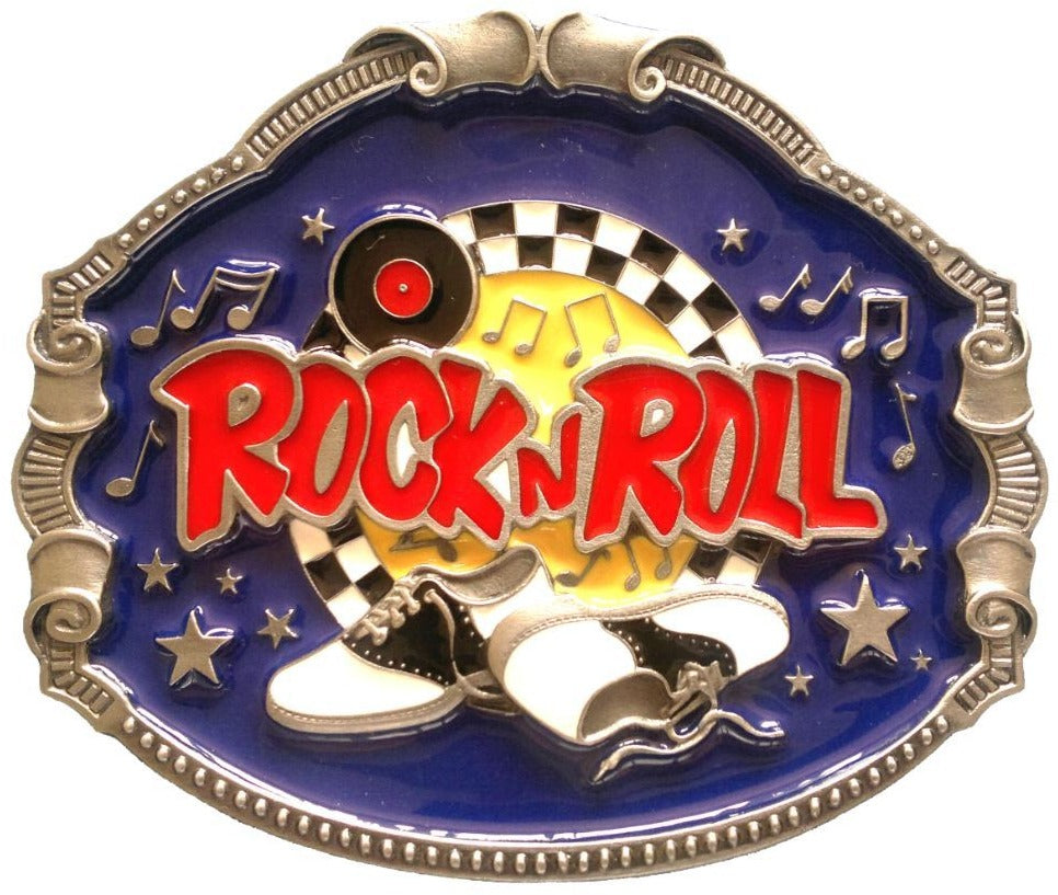 Rock N Roll Belt Buckle Music Arts Musical Buckles