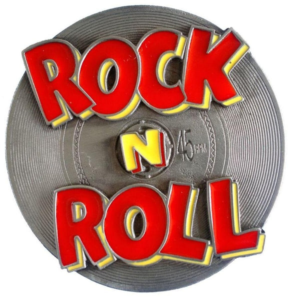Rock N Roll Disc Belt Buckle