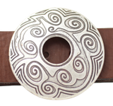 Round Swirl 2 Inch Leather Belt