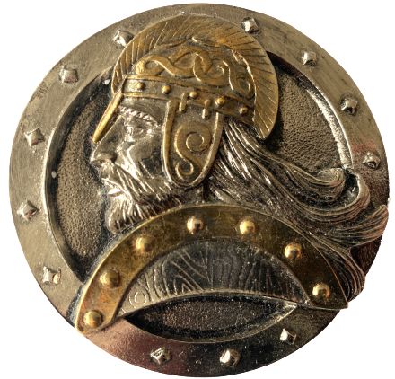 Round Viking Head Belt Buckle
