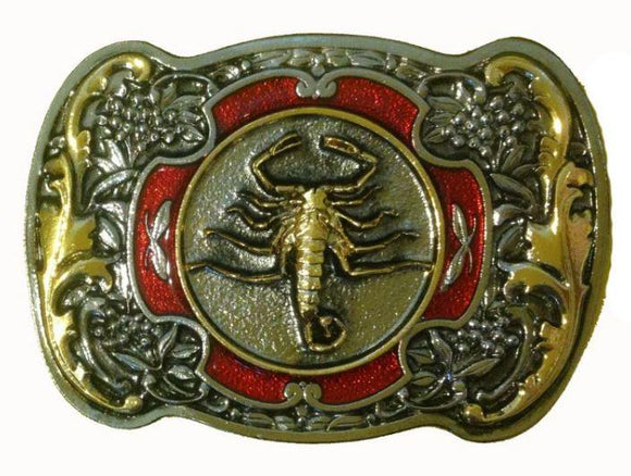 Scorpion Red Gold Belt Buckle