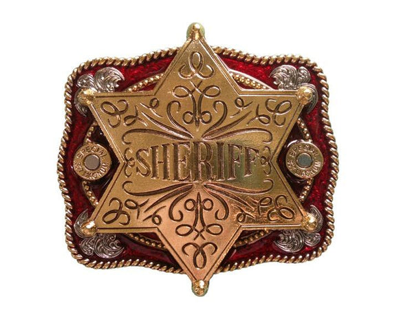 Sheriff Star Belt Buckle