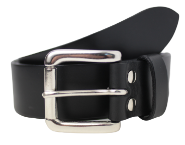 Silver Buckle Black Belt