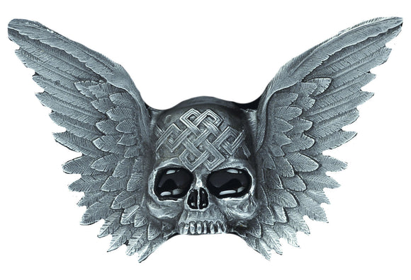 Skull and Wings Belt Buckle