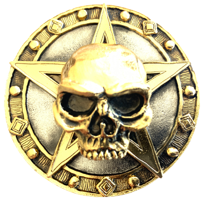 Skull on Star Belt Buckle