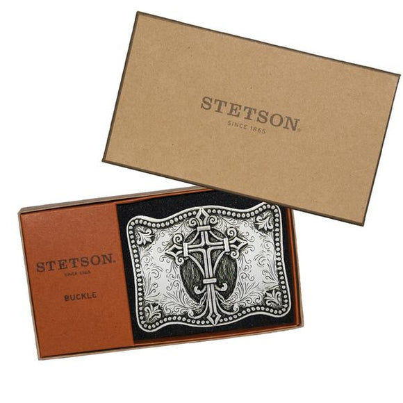 Stetson Silver Plated Promise Belt Buckle Gift Box