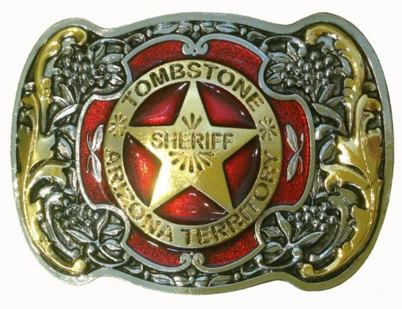 Tombstone Sheriff Belt Buckle