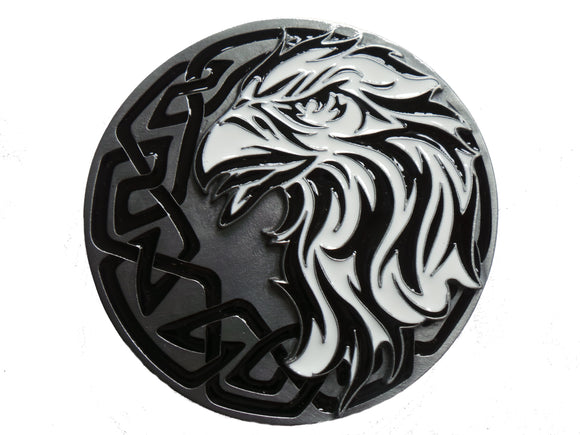 Tribal Eagle Head Side View Belt Buckle