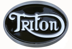 Triton Black White Belt Buckle