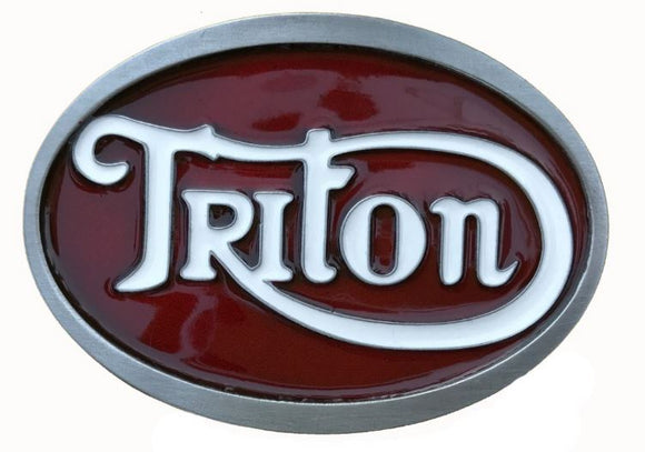 Triton Red White Belt Buckle