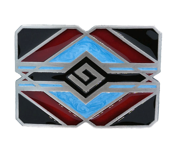 Turquoise Red Indian Belt Buckle