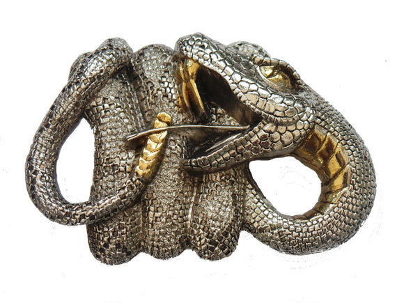 Twisting Snake Belt Buckle