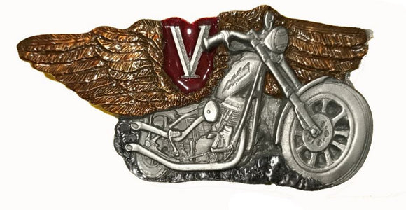 V Twin Motorcycle Belt Buckle