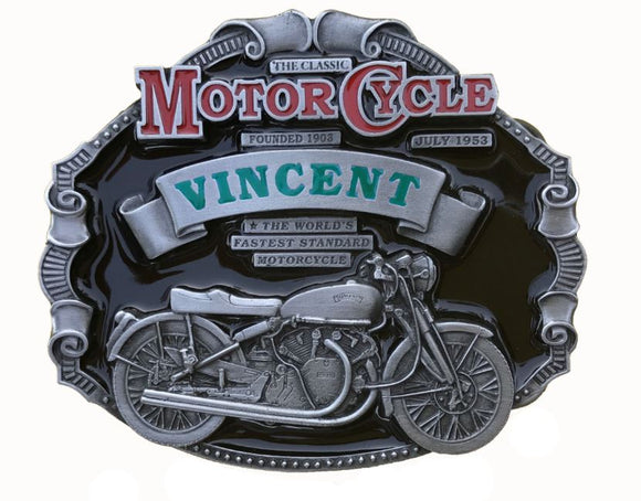 Vincent Motorcycle Belt Buckle