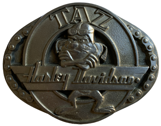 Warner Brothers TAZ Harley Davidson Belt Buckle