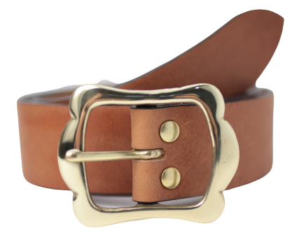 Women's Dark Tan Jean Belt