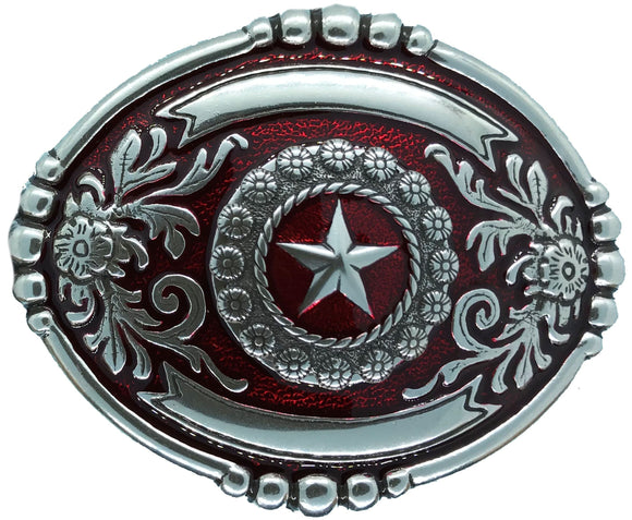 Wrangler Red Belt Buckle
