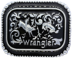 Wrangler Rodeo Black Belt Buckle