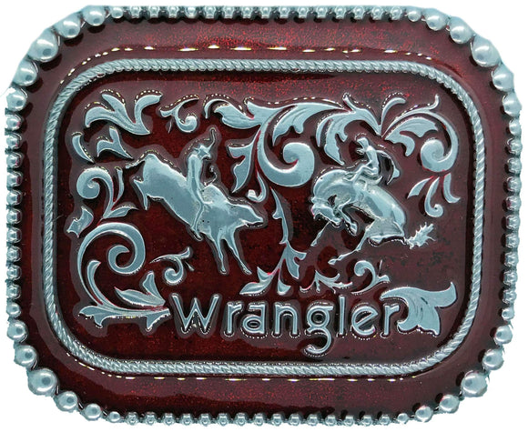 Wrangler Rodeo Red Belt Buckle
