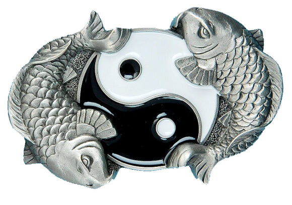 Ying Yang Fish Belt Buckle