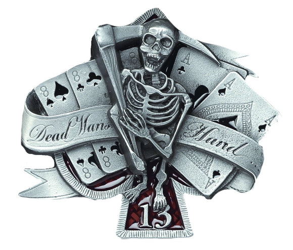 Dead Mans Hand Belt Buckle