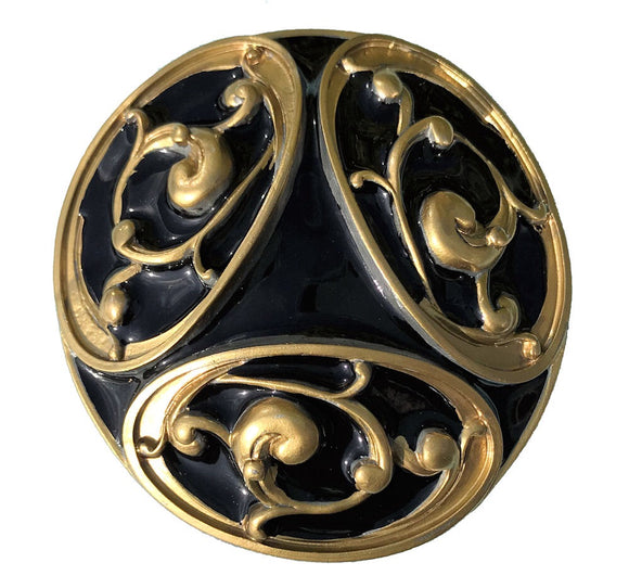Celtic Design Black Gold Belt Buckle