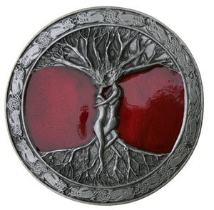 Tree of Life Red Belt Buckle