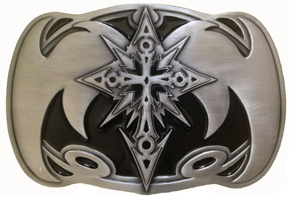 Celtic Cross Rectangle Black Belt Buckle