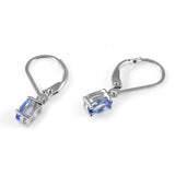 1ct Natural Tanzanite Earring with Sterling Silver 1007