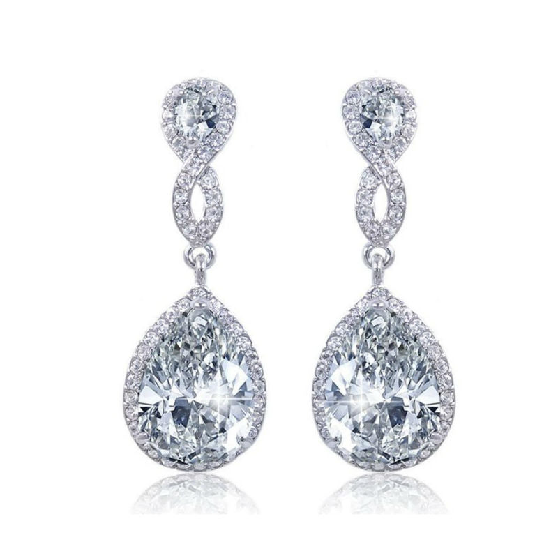 Elegant Sterling Silver Drop Earrings 1071