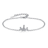 Sterling Silver Bracelet Crown Charms Bracelet 1279