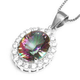 2.5ct Genuine Topaz Pendant Necklace on Sterling Silver 1207