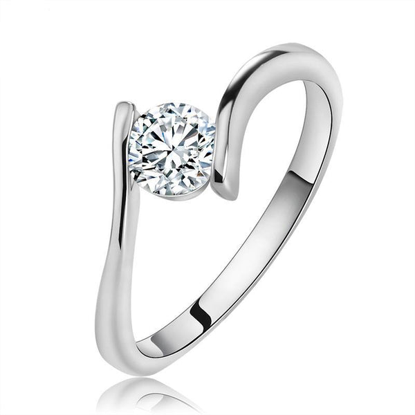 Luxury Crystal Solitaire Ring 1515