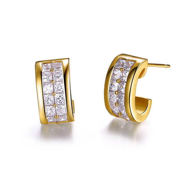 Charming Clear Cubic Zirconia Stud Earrings 1396