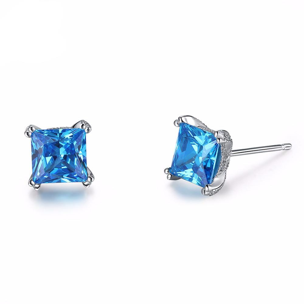 1.2ct Blue Cubic Zirconia Stud Earrings 1599