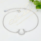 Sterling Silver Charm Bracelets with CZ 1284