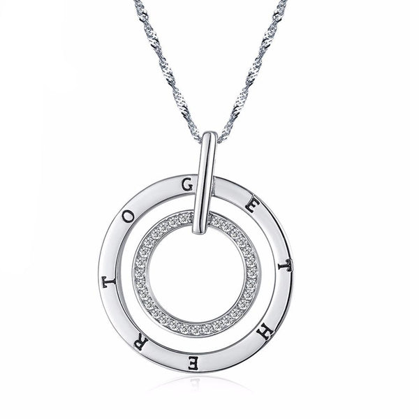 Silver Color Pendant with Long Chain 1268