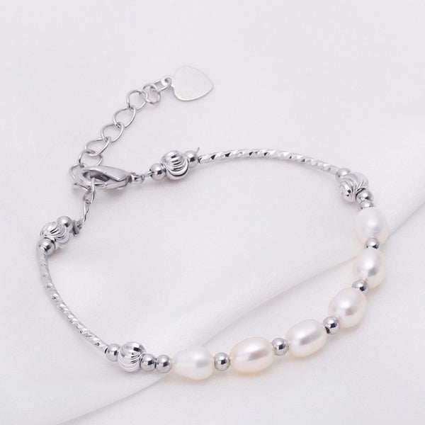 Natural Freshwater Drop Pearl  Bracelet 6-7 mm 1088