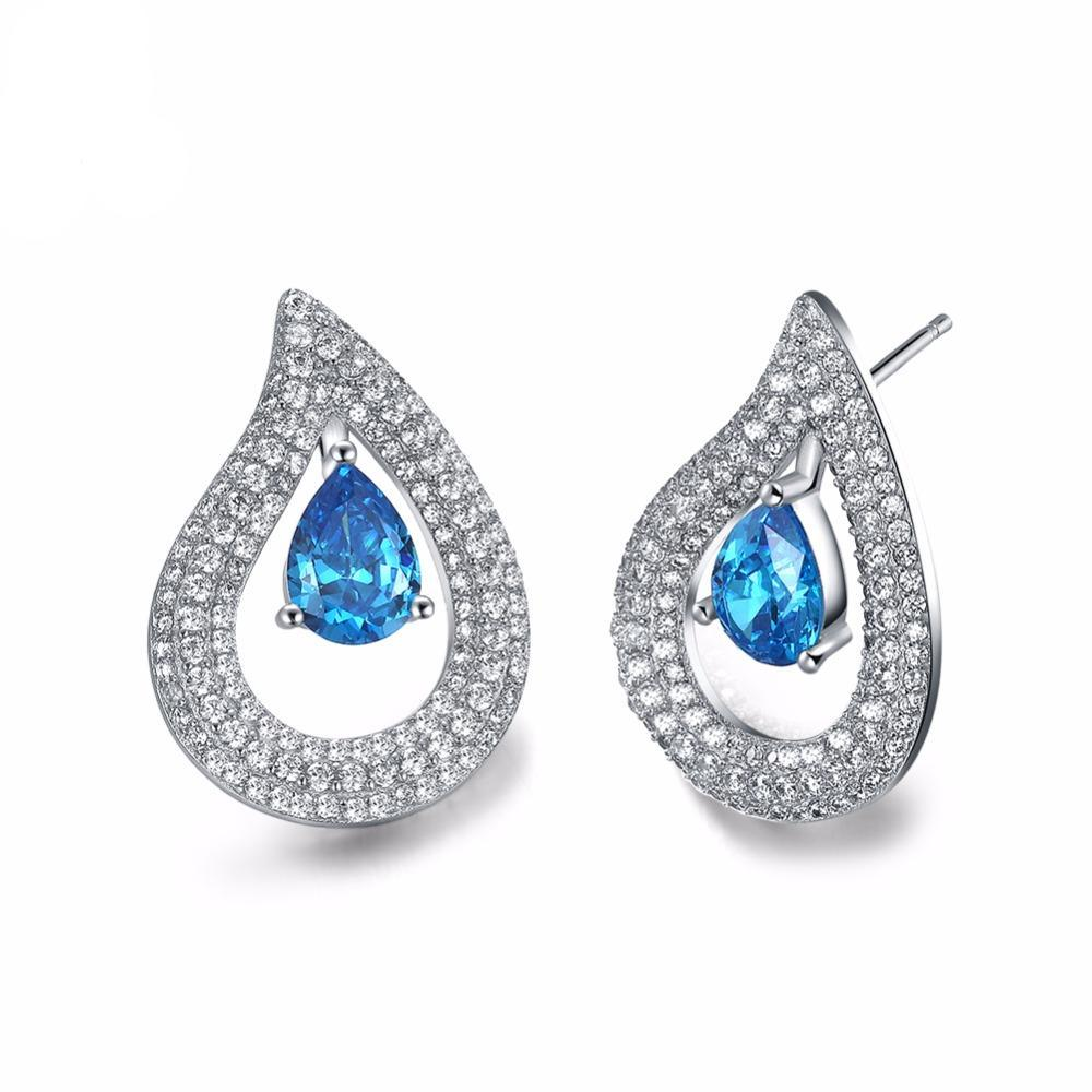 Double Water Drop Stud Earrings 1375