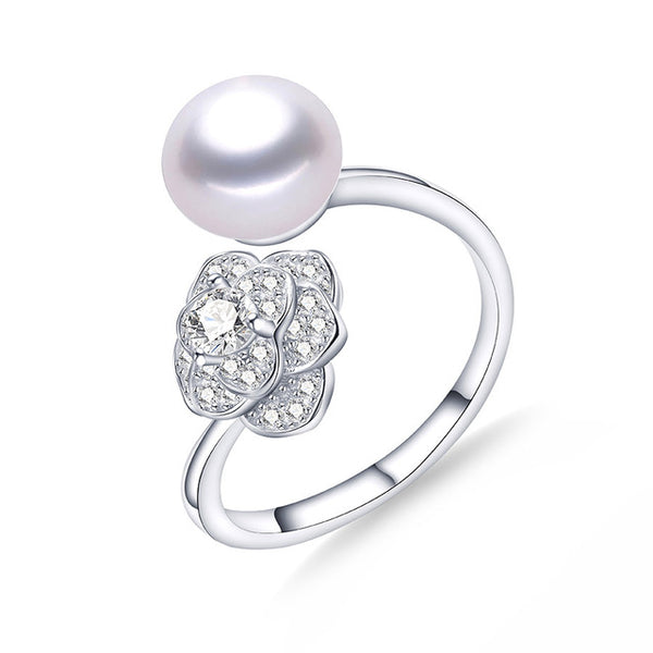 Sterling Silver Ring with Freshwater Pearl 1200