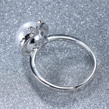 Genuine Sterling Silver Ring with Natural Freshwater Pearl 1078