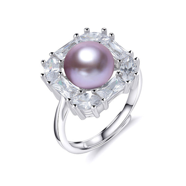 Beautiful Natural Pearl Ring on Sterling Silvers 1042