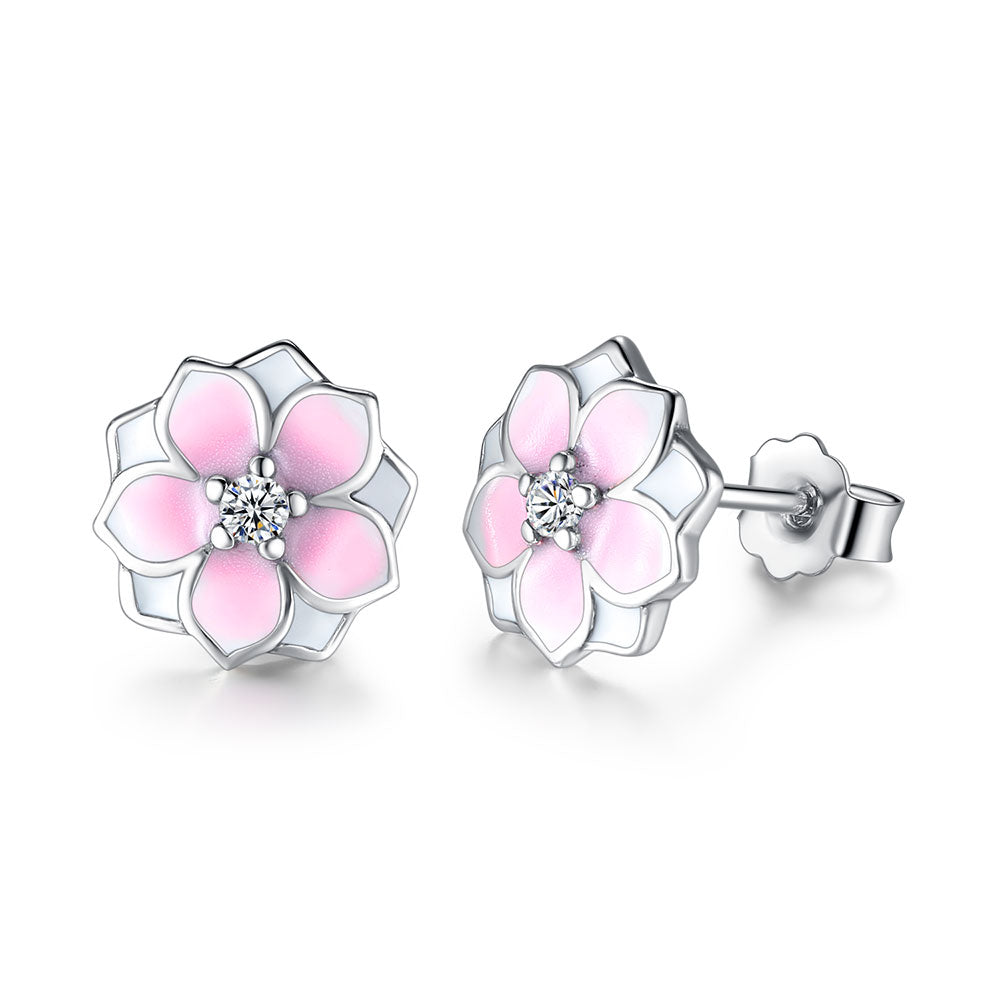 Sterling Silver Pink Flower 1322