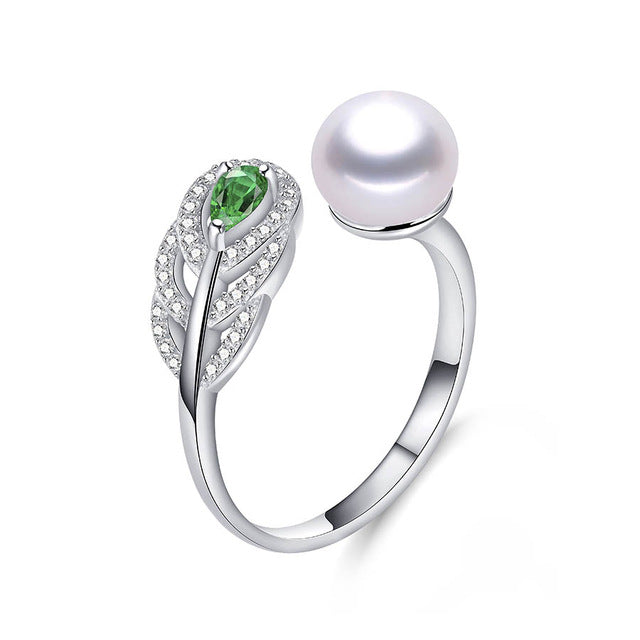 Sterling Silver Ring with Natural Freshwater Pearl 1135