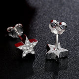 Cubic Zirconia Star on Sterling Silver Stud 1378