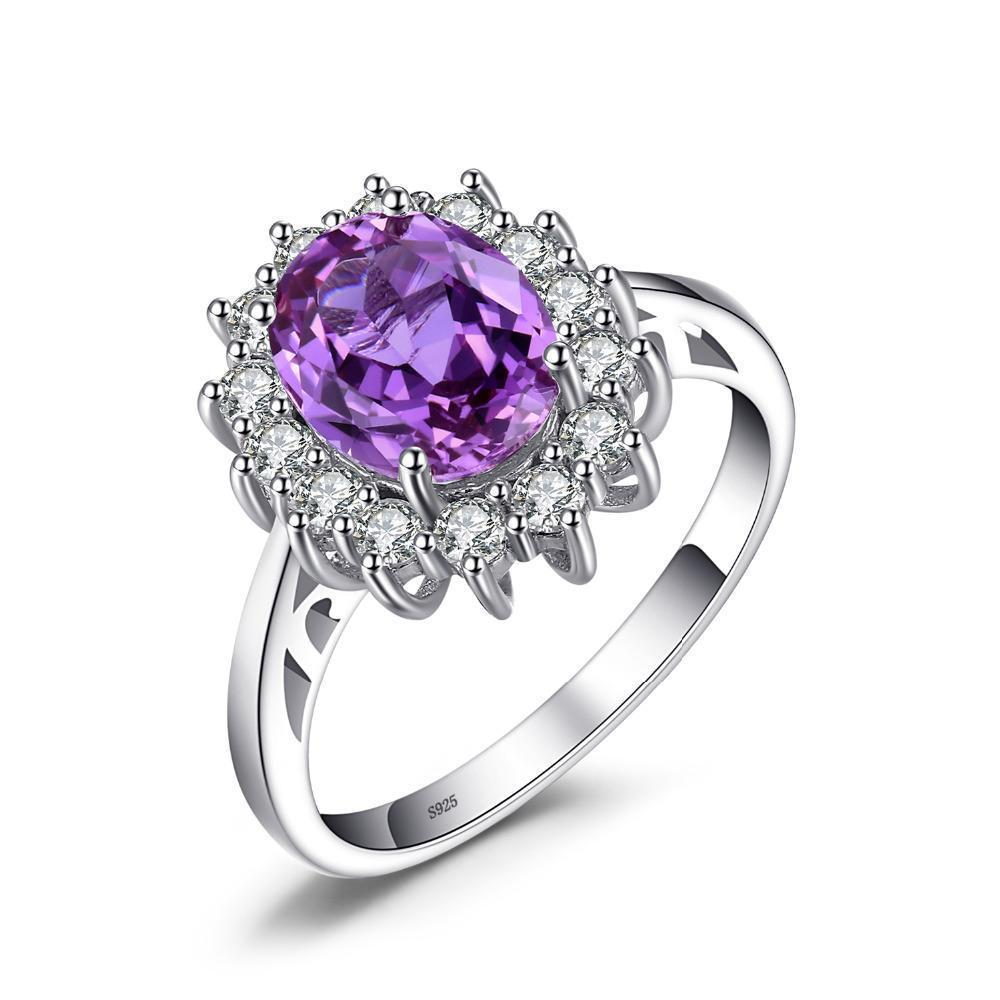 Beautiful 2.4ct Oval Alexandrite Sapphire Ring on Sterling Silver 1022