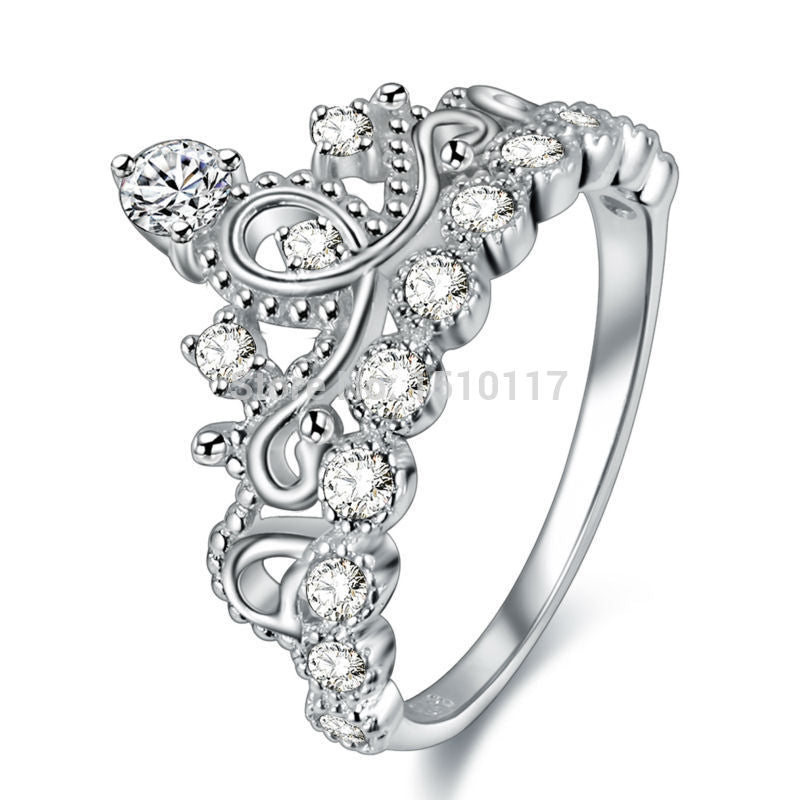Beautiful Crown Shape Ring on Sterling Silver 1029