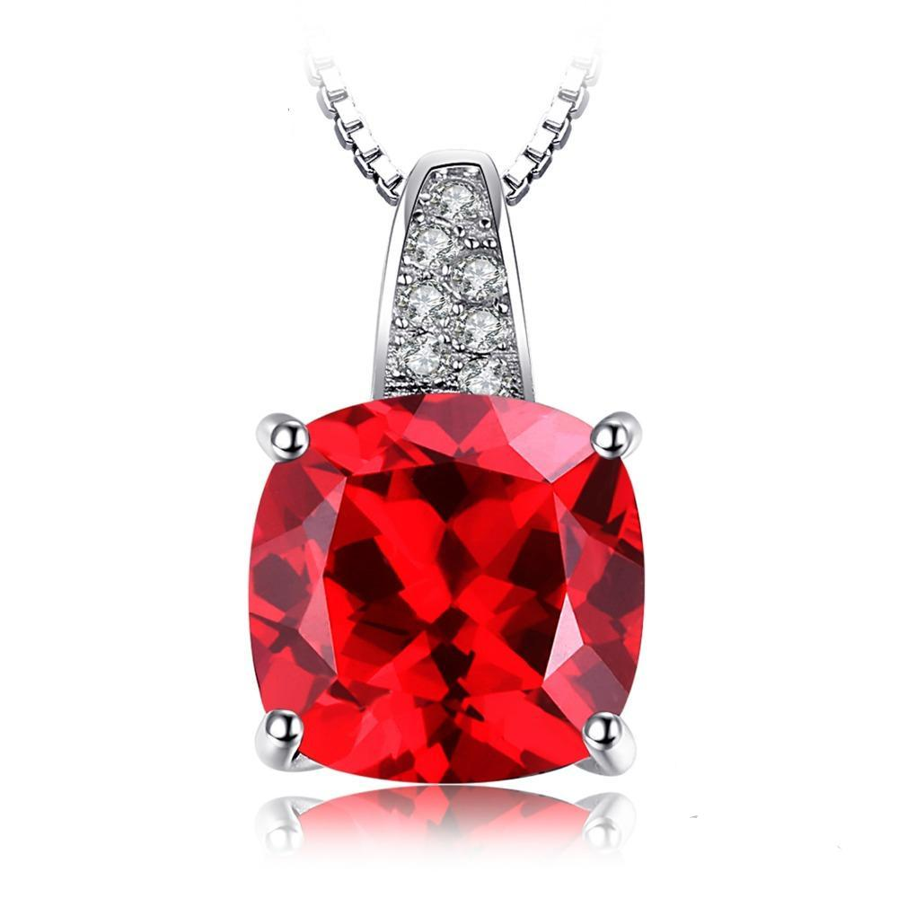 4.99ct Blood Red Ruby Pendant on Sterling Silver Square 1222