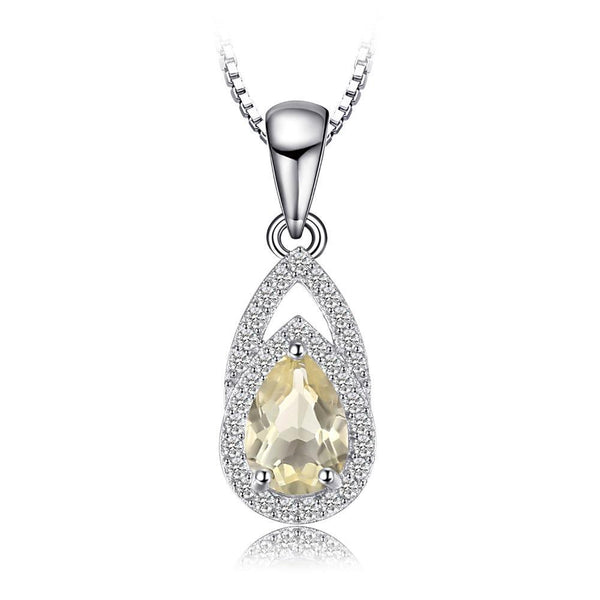 0.96ct Natural Lemon Quartz Pendant with Sterling Silver Chain 1231