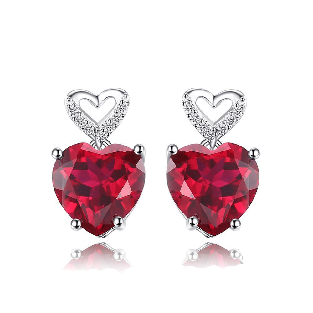premium tear shop natural gem ruby ctw rakuten white red in solitaire product harmony earrings carat drop